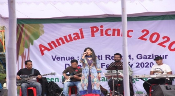 stage performance in the annual picnic 2020