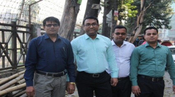 College secretary along with other staff at chuti Resort
