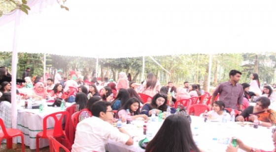 Students enjoying the Lunch