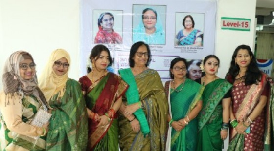 National Professor Shahla Khatun Madam and the faculty members of Gynaecology and obstetrics department of Green Life Medical College
